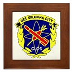 USS Oklahoma City (CLG 5) Framed Tile