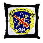USS Oklahoma City (CLG 5) Throw Pillow
