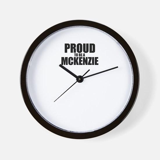 Proud to be MCKENZIE Wall Clock