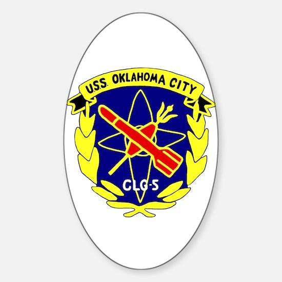 USS Oklahoma City (CLG 5) Oval Decal