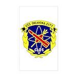 USS Oklahoma City (CLG 5) Rectangle Sticker