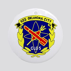 USS Oklahoma City (CLG 5) Ornament (Round)
