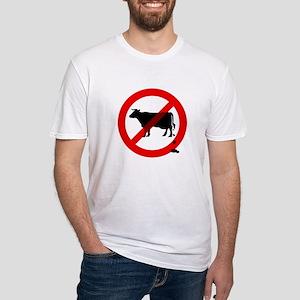 No Bullshit Sign Fitted T-Shirt