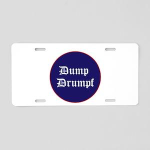 Dump Drumpf, anti Trump Aluminum License Plate