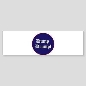 Dump Drumpf, anti Trump Bumper Sticker