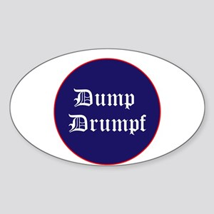 Dump Drumpf, anti Trump Sticker