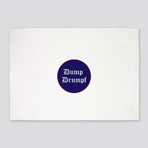Dump Drumpf, anti Trump 5'x7'Area Rug