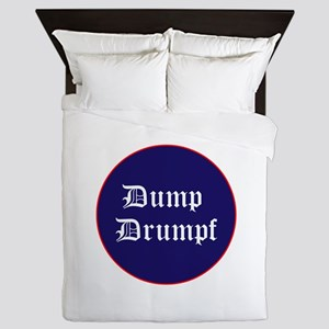 Dump Drumpf, anti Trump Queen Duvet