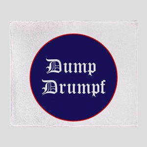 Dump Drumpf, anti Trump Throw Blanket