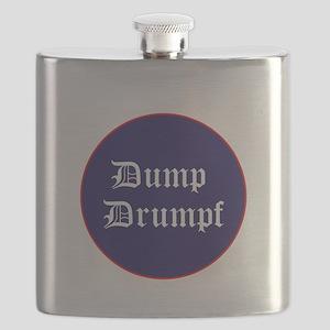 Dump Drumpf, anti Trump Flask