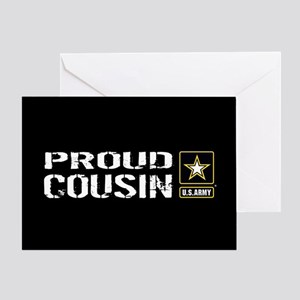 U.S. Army: Proud Cousin (Black) Greeting Card