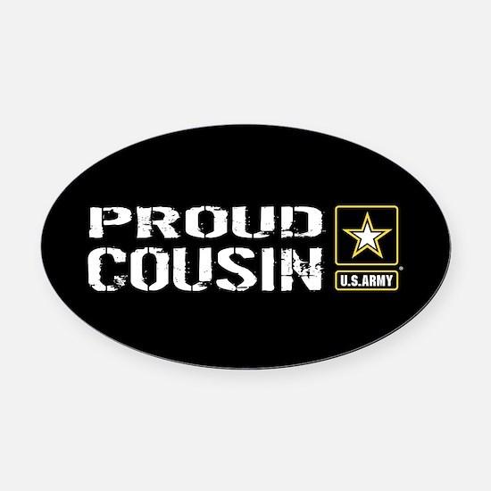 U.S. Army: Proud Cousin (Black) Oval Car Magnet