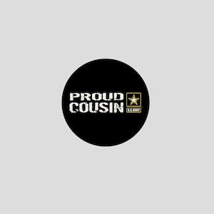 U.S. Army: Proud Cousin (Black) Mini Button