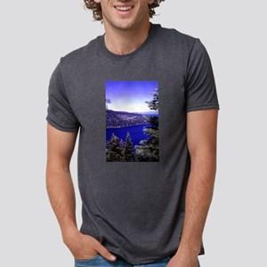 very blue lake Tahoe with evergreen trees T-Shirt