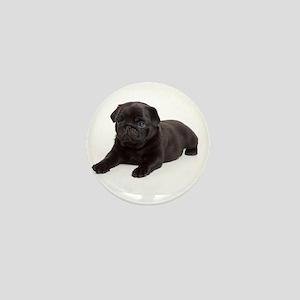Black Pug Mini Button