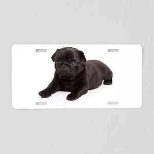 Black Pug Aluminum License Plate