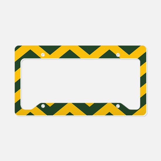 Chevron Pattern: Green & Yell License Plate Holder