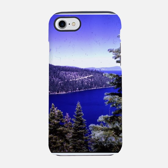 very blue lake Tahoe with ev iPhone 8/7 Tough Case