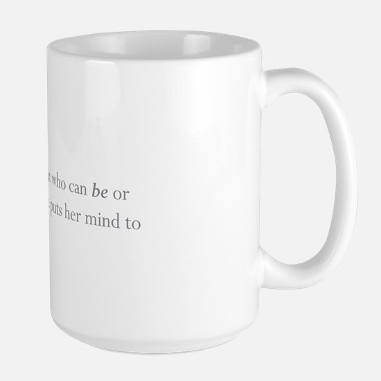 """Girls Defined"" Large Mugs"