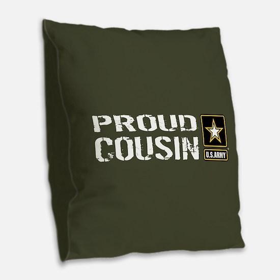 U.S. Army: Proud Cousin (Milit Burlap Throw Pillow