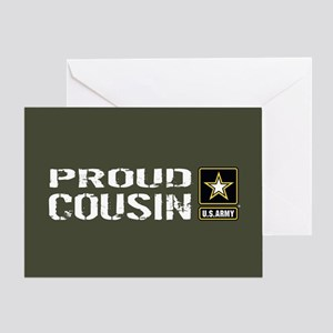 U.S. Army: Proud Cousin (Military Gr Greeting Card