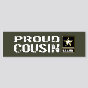 U.S. Army: Proud Cousin (Military Sticker (Bumper)