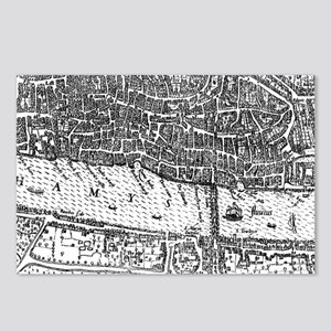 Vintage Map of London Eng Postcards (Package of 8)