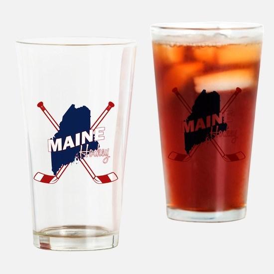 Maine Hockey Drinking Glass