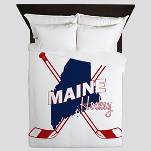 Maine Hockey Queen Duvet