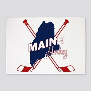 Maine Hockey 5'x7'Area Rug