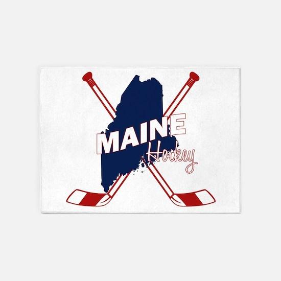 Maine Hockey 5'x7'Area Rug