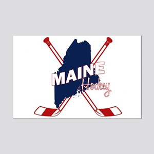 Maine Hockey Mini Poster Print