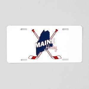 Maine Hockey Aluminum License Plate