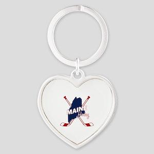 Maine Hockey Heart Keychain