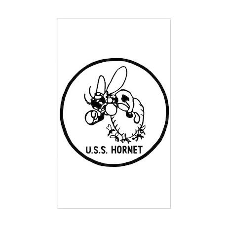 USS Hornet (CV 8) Rectangle Sticker