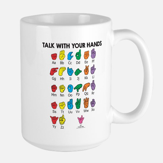 Learn Sign Language Large Mug