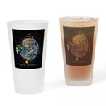 Hiker's Soul Compass Space Drinking Glass