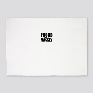 Proud to be MASSEY 5'x7'Area Rug