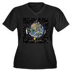 Hiker's Soul Compass Space Plus Size T-Shirt