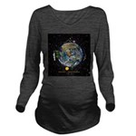 Hiker's Soul Compass Space Long Sleeve Maternity T