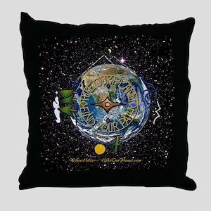Hiker's Soul Compass Space Throw Pillow