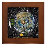 Hiker's Soul Compass Space Framed Tile