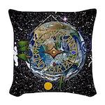 Hiker's Soul Compass Space Woven Throw Pillow