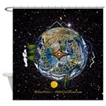 Hiker's Soul Compass Space Shower Curtain
