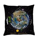 Hiker's Soul Compass Space Everyday Pillow