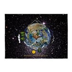 Hiker's Soul Compass Space 5'x7'Area Rug