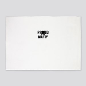 Proud to be MARTY 5'x7'Area Rug