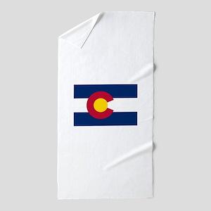 Colorado Flag Beach Towel