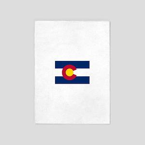 Colorado Flag 5'x7'Area Rug