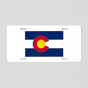 Colorado Flag Aluminum License Plate